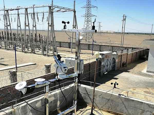 检测太阳能光伏气象站